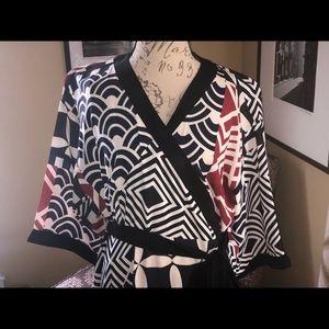NWOT ELOQUII KIMONO WRAP DRESS